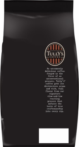 Tully's French Roast Ground Coffee Perspective: back