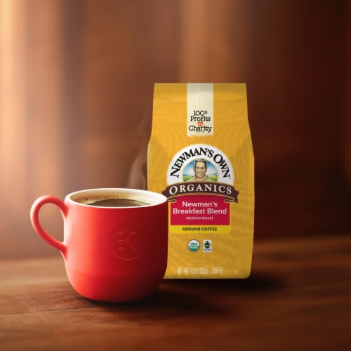 Newman's Own Organic Breakfast Blend Ground Coffee Perspective: back