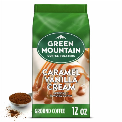 Green Mountain Coffee Caramel Vanilla Cream Flavored Ground Coffee Perspective: back
