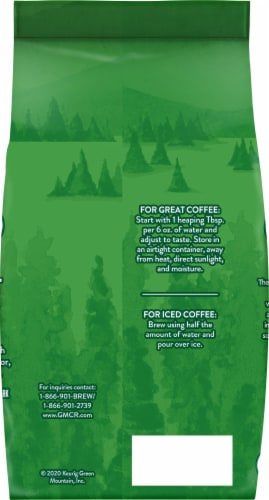 Green Mountain Coffee Decaf Breakfast Blend Light Roast Ground Coffee Perspective: back