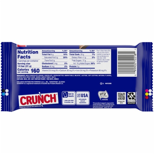 Crunch Candy Bar Perspective: back