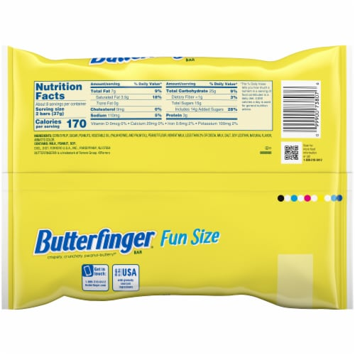 Butterfinger Fun Size Candy Bars Perspective: back