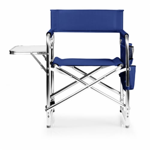 Sports Chair, Navy Blue Perspective: back