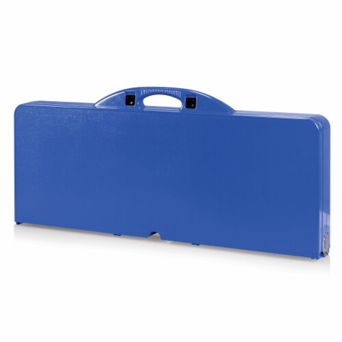 Picnic Table Portable Folding Table with Seats, Royal Blue Perspective: back