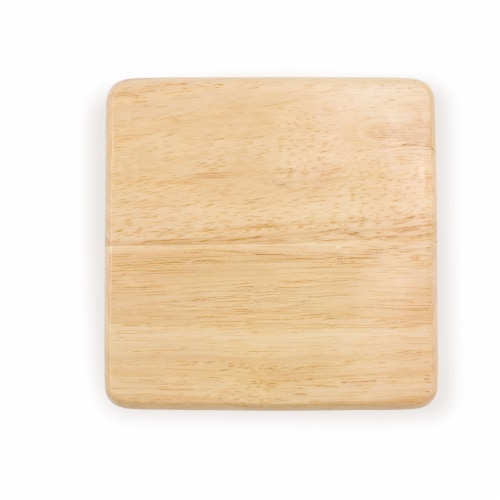 "6"" Square Cutting Board, Rubberwood Perspective: back"