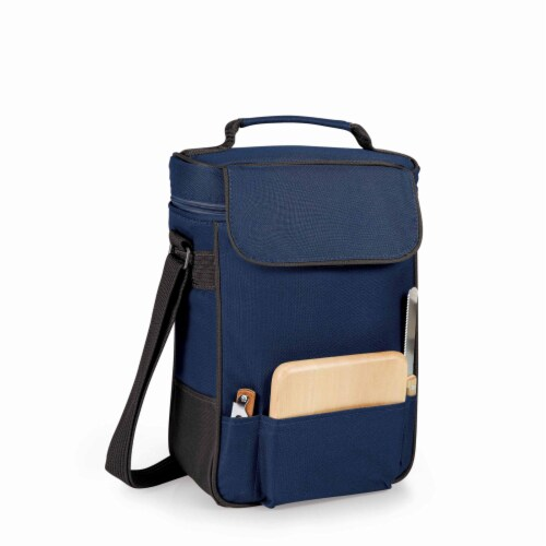 Duet Wine & Cheese Tote, Navy Blue Perspective: back