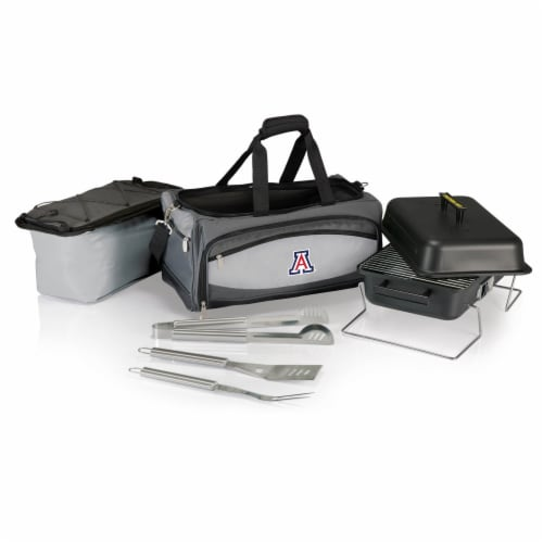 Arizona Wildcats - Portable Charcoal Grill & Cooler Tote Perspective: back