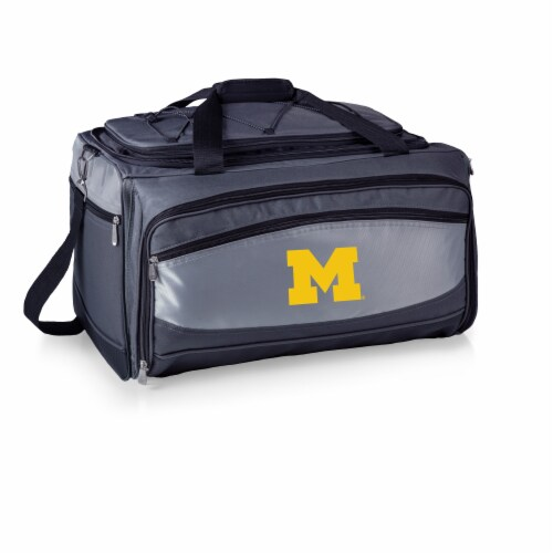 Michigan Wolverines - Portable Charcoal Grill & Cooler Tote Perspective: back