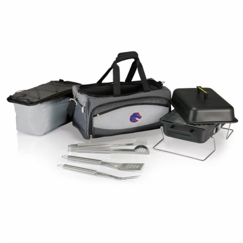 Boise State Broncos - Portable Charcoal Grill & Cooler Tote Perspective: back