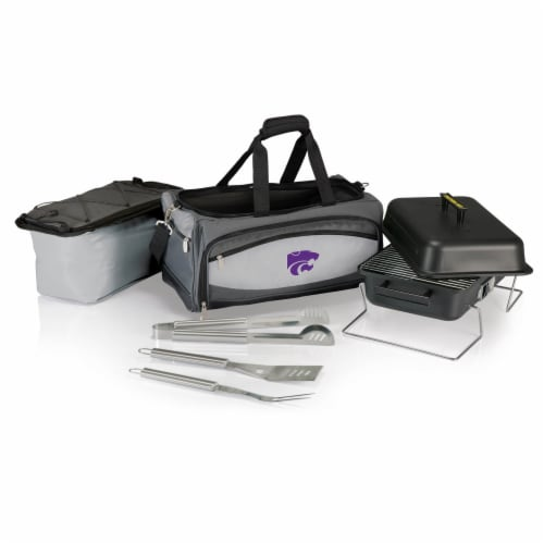 Kansas State Wildcats - Portable Charcoal Grill & Cooler Tote Perspective: back