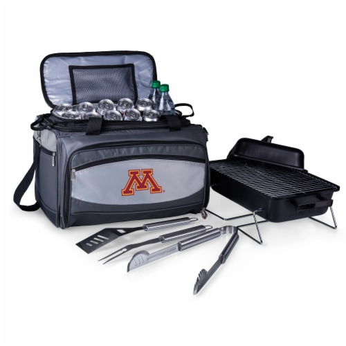 Minnesota Golden Gophers - Portable Charcoal Grill & Cooler Tote Perspective: back