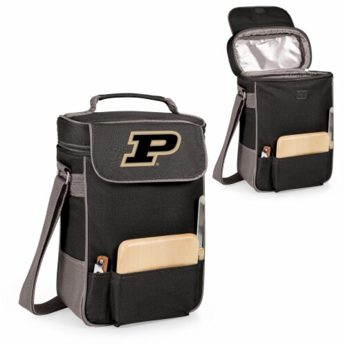Purdue Boilermakers - Duet Wine & Cheese Tote Perspective: back