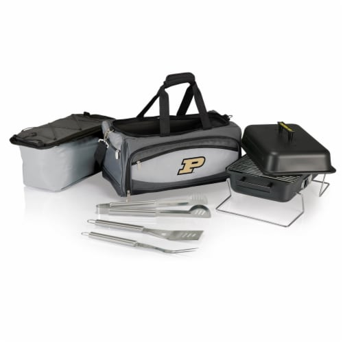 Purdue Boilermakers - Portable Charcoal Grill & Cooler Tote Perspective: back