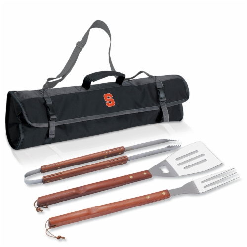 Syracuse Orange - 3-Piece BBQ Tote & Grill Set Perspective: back
