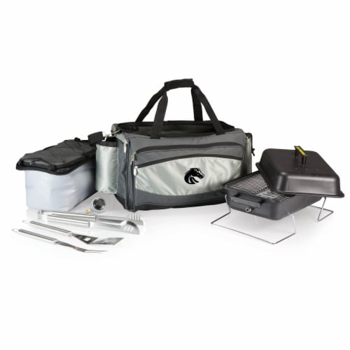Boise State Broncos - Vulcan Portable Propane Grill & Cooler Tote Perspective: back