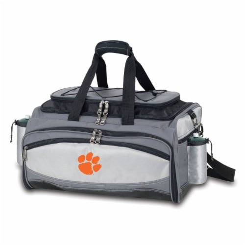 Clemson Tigers - Vulcan Portable Propane Grill & Cooler Tote Perspective: back