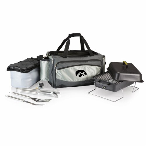 Iowa Hawkeyes - Vulcan Portable Propane Grill & Cooler Tote Perspective: back
