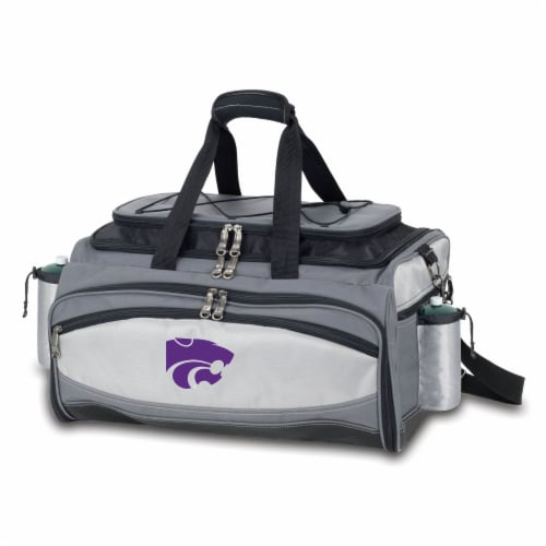 Kansas State Wildcats - Vulcan Portable Propane Grill & Cooler Tote Perspective: back