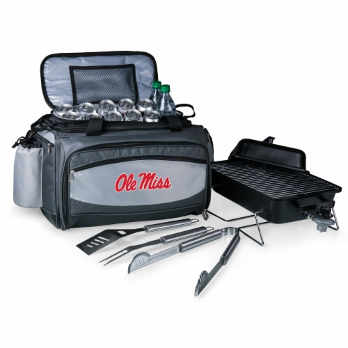 Ole Miss Rebels - Vulcan Portable Propane Grill & Cooler Tote Perspective: back