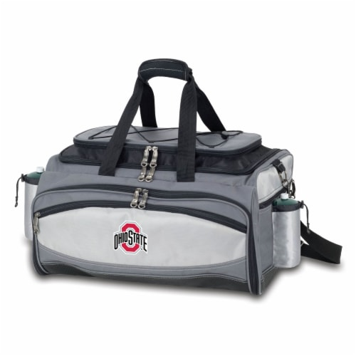 Ohio State Buckeyes - Vulcan Portable Propane Grill & Cooler Tote Perspective: back