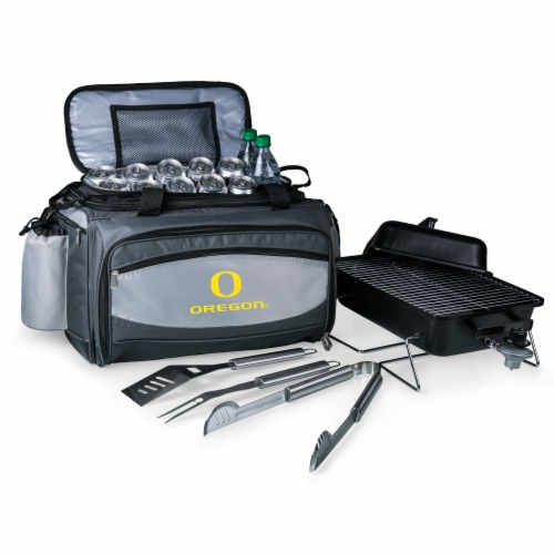 Oregon Ducks - Vulcan Portable Propane Grill & Cooler Tote Perspective: back