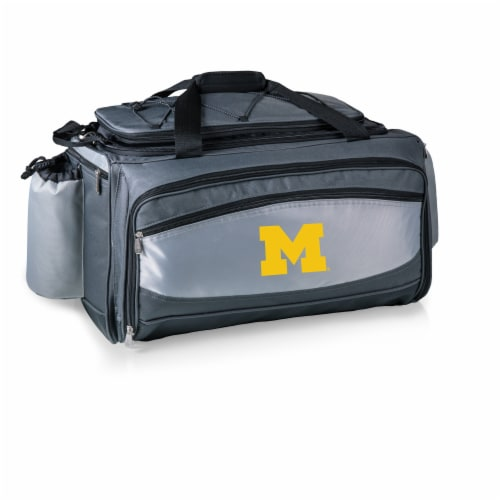 Michigan Wolverines - Vulcan Portable Propane Grill & Cooler Tote Perspective: back