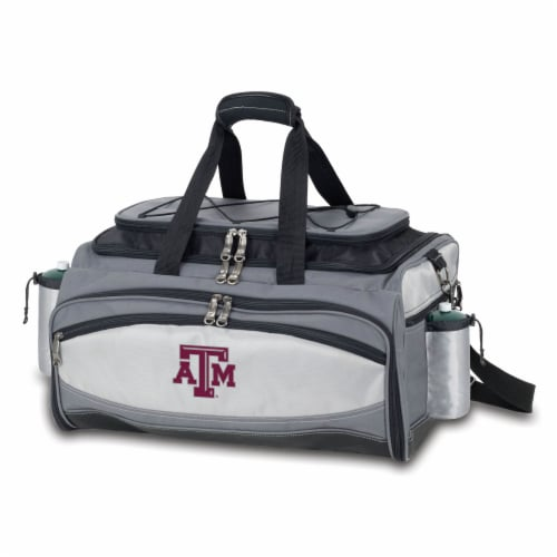 Texas A&M Aggies - Vulcan Portable Propane Grill & Cooler Tote Perspective: back