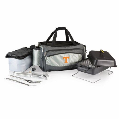 Tennessee Volunteers - Vulcan Portable Propane Grill & Cooler Tote Perspective: back