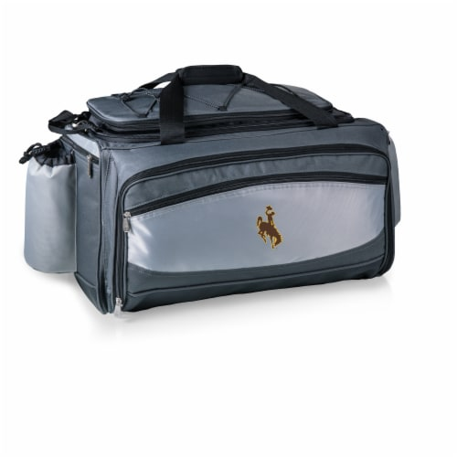 Wyoming Cowboys - Vulcan Portable Propane Grill & Cooler Tote Perspective: back