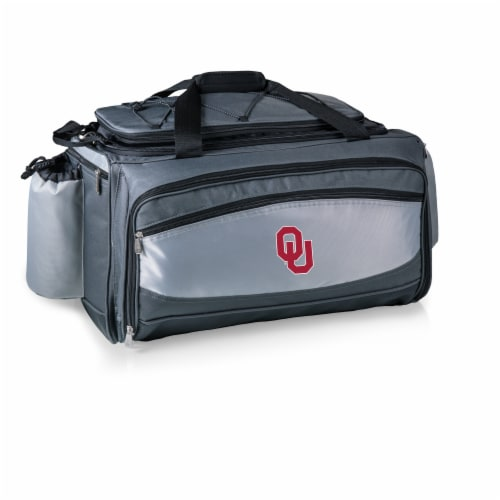 Oklahoma Sooners - Vulcan Portable Propane Grill & Cooler Tote Perspective: back