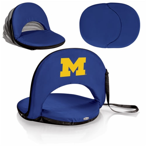 Michigan Wolverines - Oniva Portable Reclining Seat Perspective: back