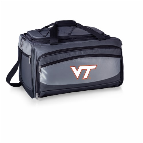 Virginia Tech Hokies - Portable Charcoal Grill & Cooler Tote Perspective: back