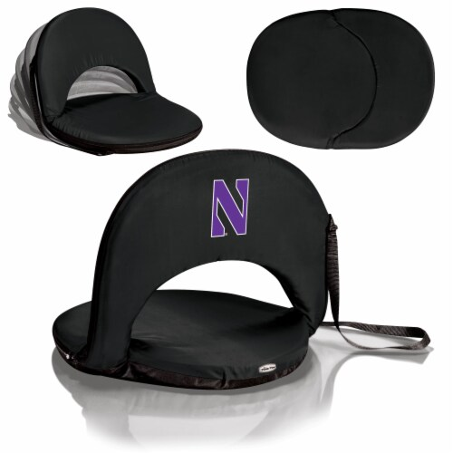 Northwestern Wildcats - Oniva Portable Reclining Seat Perspective: back
