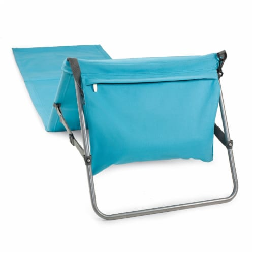 Beachcomber Portable Beach Chair & Tote, Blue Perspective: back