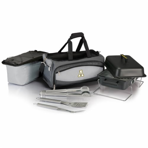 App State Mountaineers - Portable Charcoal Grill & Cooler Tote Perspective: back