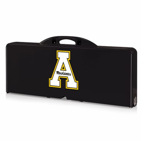 App State Mountaineers - Picnic Table Portable Folding Table with Seats Perspective: back