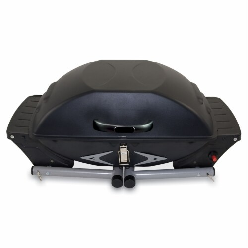 Portagrillo Portable Propane BBQ Grill, Black with Gray Accents Perspective: back
