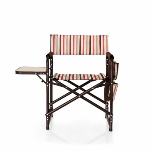 Sports Chair, Moka Collection - Brown with Beige & Red Accents Perspective: back