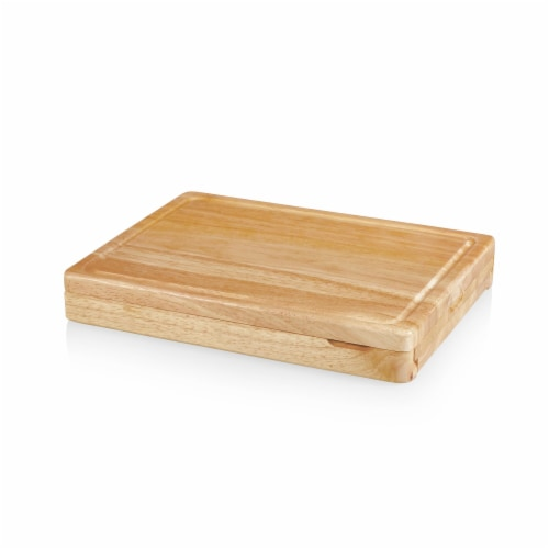 Asiago Cheese Cutting Board & Tools Set, Rubberwood Perspective: back