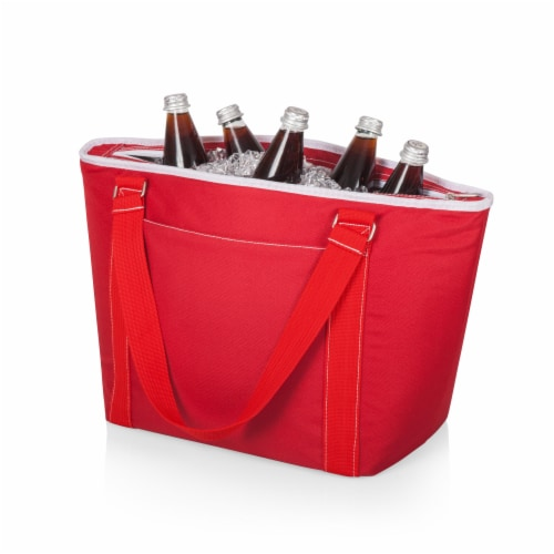 Topanga Cooler Tote Bag, Red Perspective: back