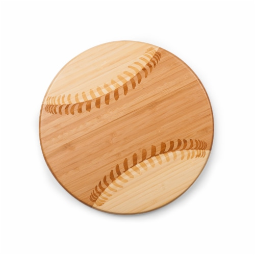 Home Run! Baseball Cutting Board & Serving Tray, Rubberwood Perspective: back