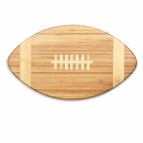 Touchdown! Football Cutting Board & Serving Tray, Bamboo Perspective: back