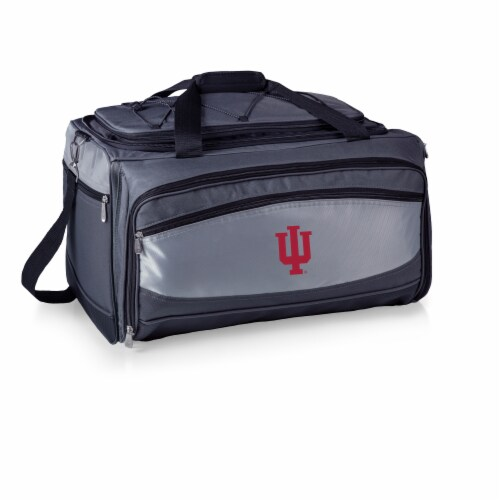 Indiana Hoosiers - Portable Charcoal Grill & Cooler Tote Perspective: back
