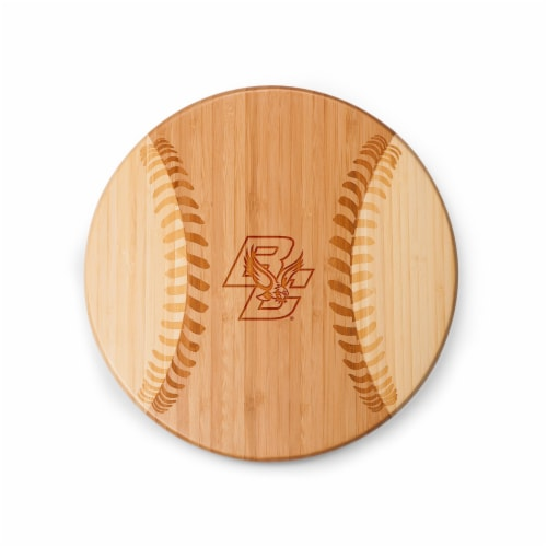 Boston College Eagles - Home Run! Baseball Cutting Board & Serving Tray Perspective: back