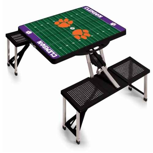 Clemson Tigers Portable Picnic Table Perspective: back