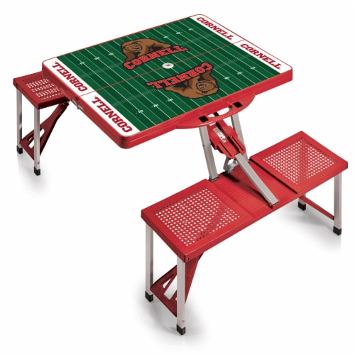 Cornell Big Red - Picnic Table Portable Folding Table with Seats Perspective: back