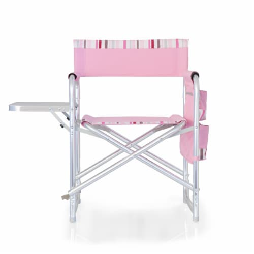 Sports Chair, Pink Stripe Perspective: back