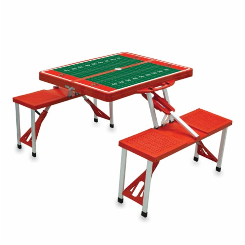 Louisville Cardinals - Picnic Table Portable Folding Table with Seats Perspective: back