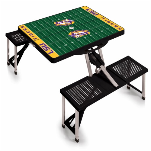 LSU Tigers Portable Picnic Table Perspective: back