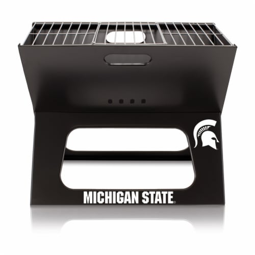 Michigan State Spartans - X-Grill Portable Charcoal BBQ Grill Perspective: back